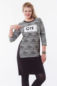 "Sukienka plus size ""ON/OFF"""