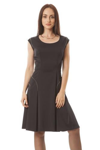 bf8922d6c9 sukienki wizytowe DOMINUJĄCY KOLOR   czarny - Semper