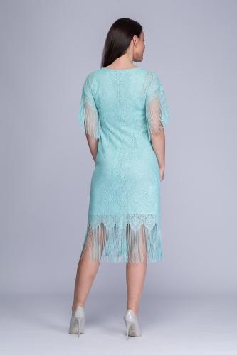234d73fe1cf5be Sukienka seledynowo-srebrzysta koronka Pola Sukienka seledynowo-srebrzysta  koronka Pola