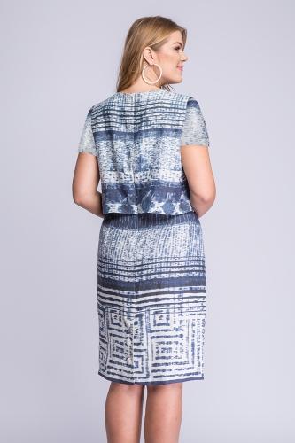 4415c5e4 Sukienka lniana plus size niebieska Sole