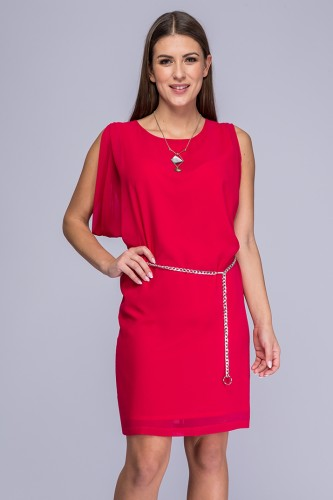 df14c75431 Sukienka amarantowa żorżeta Sara ...