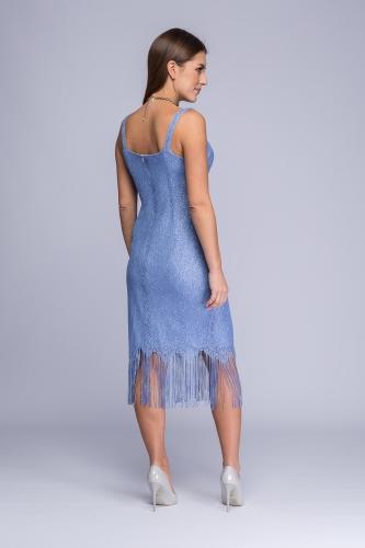 630e943a44 Sukienka niebiesko-srebrzysta koronka Betty Sukienka niebiesko-srebrzysta  koronka Betty