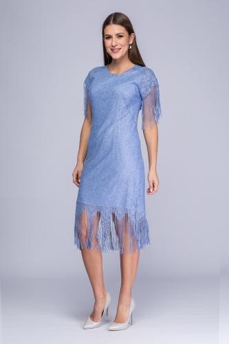 1b331e43f8 Sukienka niebiesko-srebrzysta koronka Pola Sukienka niebiesko-srebrzysta  koronka Pola