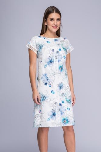 627ee2f65f Sukienka biała z kwiatowym wzorem Yuka ...