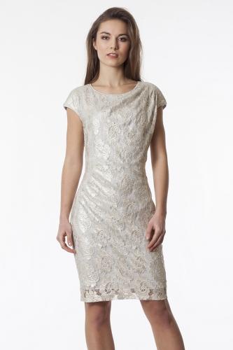 d2b214d6fb Suknia Margaret srebrzysto-złota