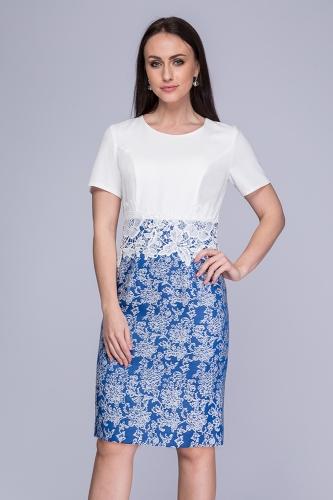 01ab148a7c Sukienka koronkowa biało-niebieska Minori ...