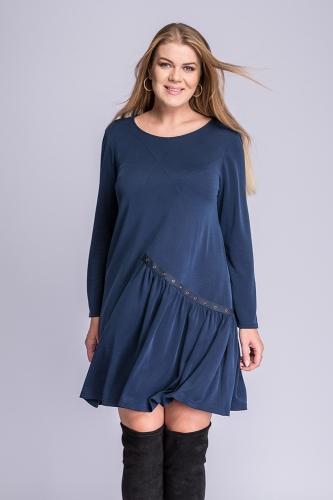 b19b007e94 Sukienka plus size granatowa Kama Semper