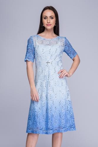 1ff9efd780 Sukienka koronkowa cieniowany błękit Bernadeta