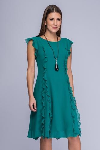 322c7e8ff3 Sukienka morska zieleń żorżeta Tina