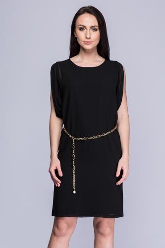 093c169574 Sukienka czarna żorżeta Sara ...