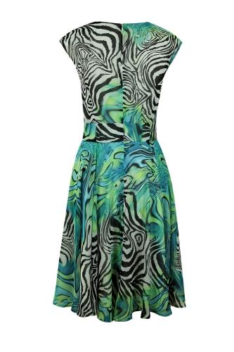 f4021a48b2 Suknia Mary zielono - czarna zebra Suknia Mary zielono - czarna zebra
