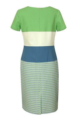 6336b45e5a Suknia Viki niebiesko-zielona kratka Suknia Viki niebiesko-zielona kratka