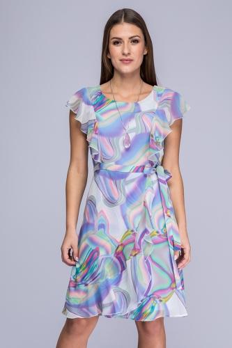 2c2f9c750f Sukienka kolorowe fale żorżeta Irina ...