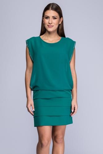 dd0e723c0d Sukienka Raisa morska zieleń żorżeta
