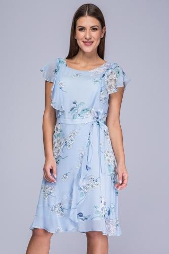 3a5cd47487 Sukienka Irina niebieskie kwiaty