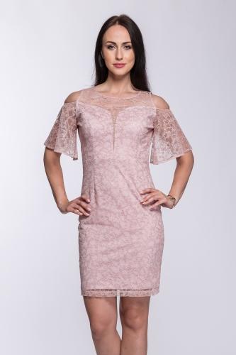 75161e631e Sukienka pudrowy róż Noelle