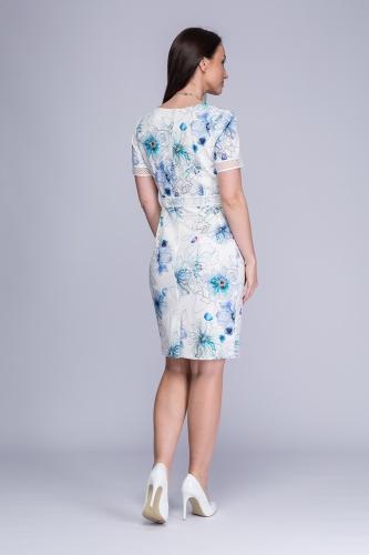 7d9ba7654d Sukienka biała z kwiatowym wzorem Minori Sukienka biała z kwiatowym wzorem  Minori