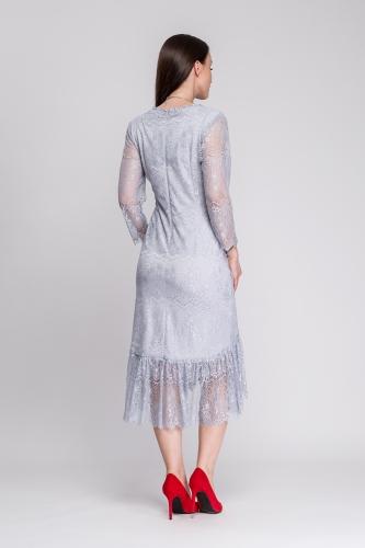 72a18799e Sukienka koronkowa jasno-szara Florita Sukienka koronkowa jasno-szara  Florita