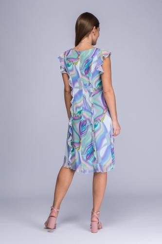 f315d1d8da Sukienka kolorowe fale żorżeta Tina Sukienka kolorowe fale żorżeta Tina