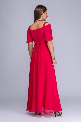 98d3b6d953 Sukienka amarantowa żorżeta maxi Gella Sukienka amarantowa żorżeta maxi  Gella