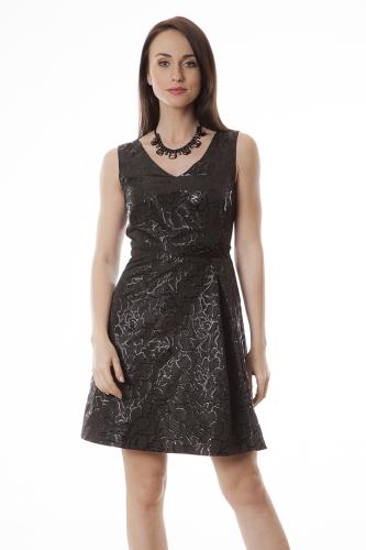 dda016ec81 Suknia wieczorowa Anita żakard z czarnym połyskiem