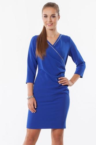 ec0433c65b sukienki wizytowe DOMINUJĄCY KOLOR   niebieski